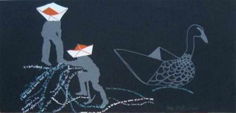 ECK - Deux marins et un cygne