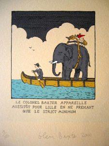 Le colonel Baxter appareille pour Lille... - BAXTER Glen