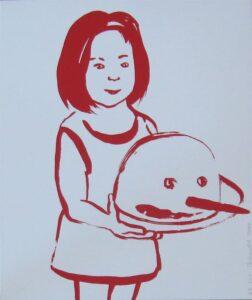 PETROVITCH Françoise_Rougir Petite fille gâteau