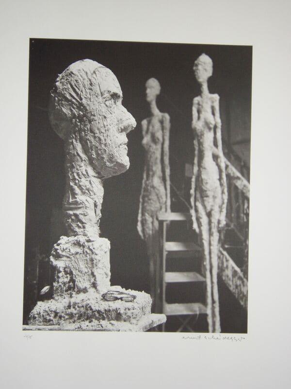 SCHEIDEGGER Ernst Giacometti grande tête en plâtre