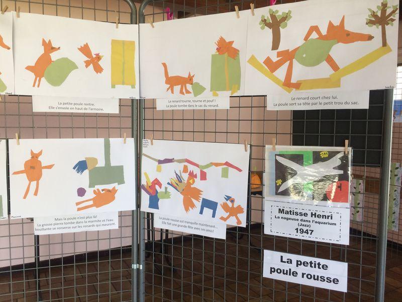 Vernissage école maternelle Faidherbe de Beautor - Artothèque de l'Aisne 01